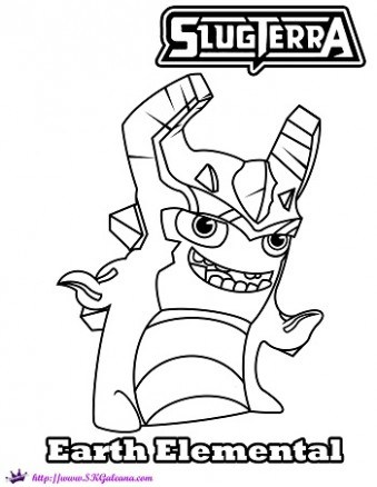 339x438 Slugterra Earth Elemental Coloring Page Skgaleana