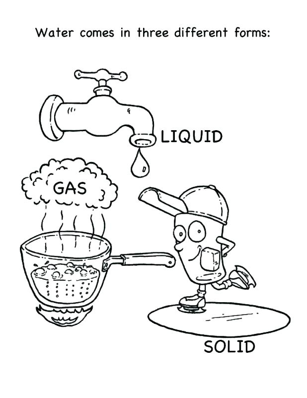 618x801 Water Cycle Coloring Page Water Safety Printable Ng Pages