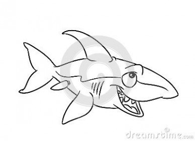 388x281 Fish Shark Illustration Coloring Pages Artwork Of Wild Just