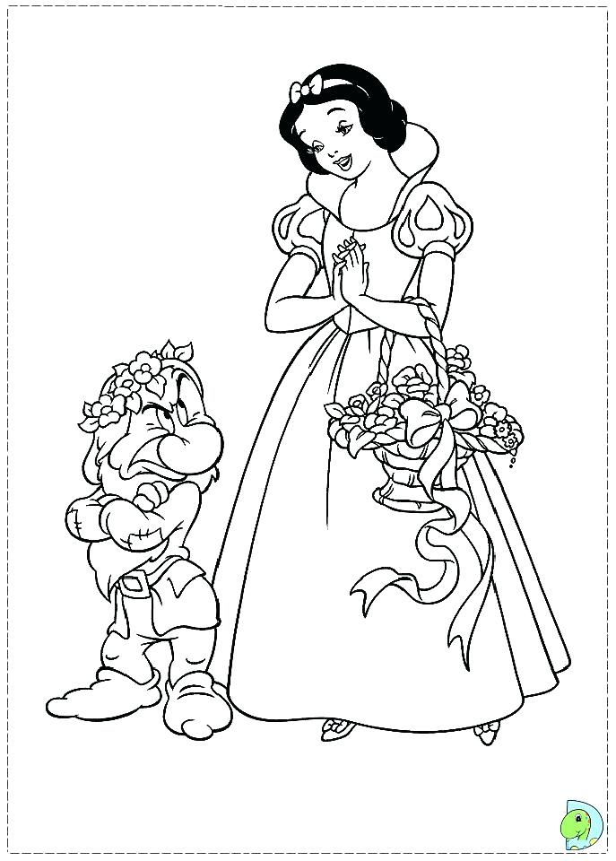 687x960 Snow White Coloring Book