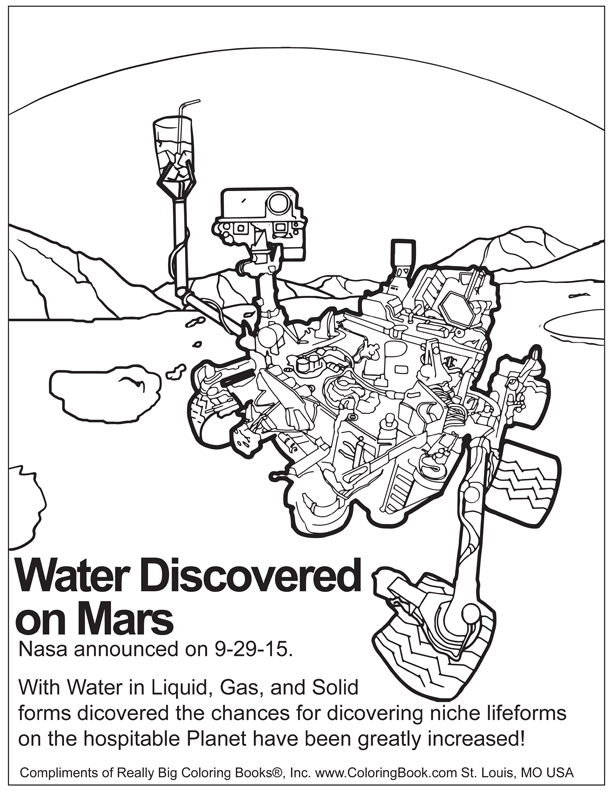 612x791 Coloring Books Water Discovered On Mars Free Online Coloring Page