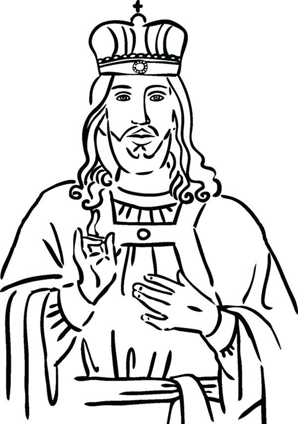 599x850 Free King Solomon Coloring Pages Crown Him King Coloring Page