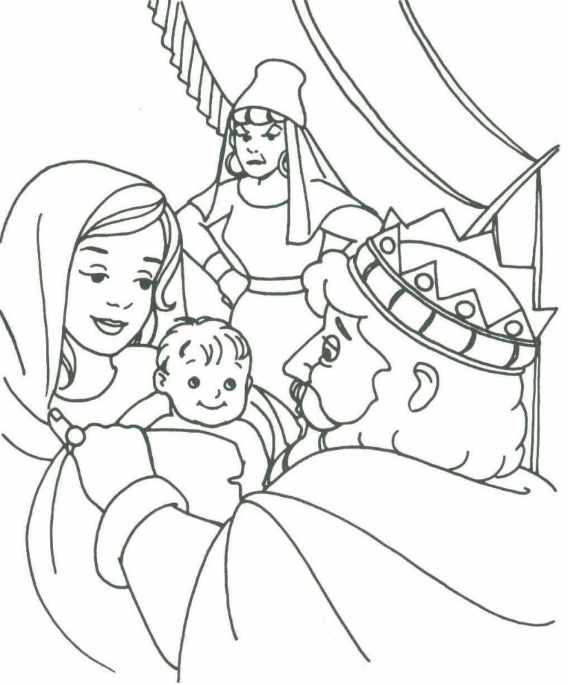 825x994 King Solomon Coloring Pages
