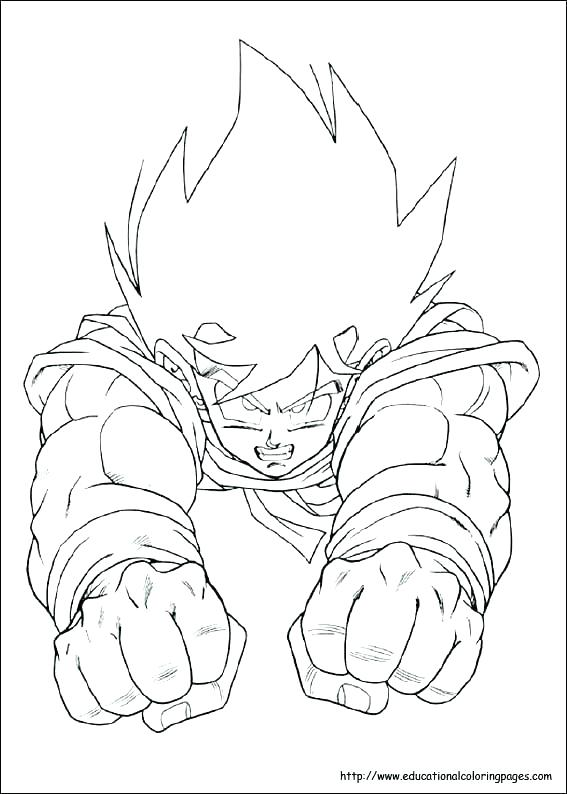 Son Goku Coloring Pages at GetDrawings.com   Free for ...