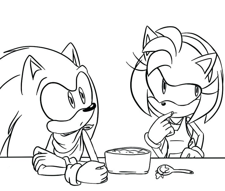 Sonic Amy Coloring Pages At Getdrawings Com Free For Personal Use