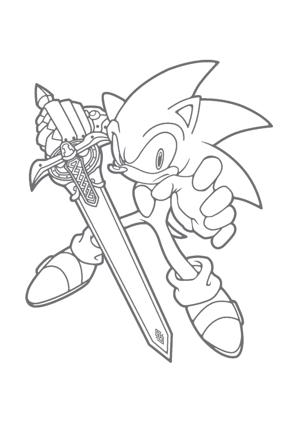 971x1377 Free Printable Sonic The Hedgehog Coloring Pages For Kids, Sonic