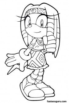 226x338 Free Printable Sonic The Hedgehog Rouge Coloring Pages For Kids