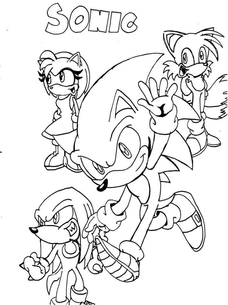 750x1000 Free Printable Sonic The Hedgehog Coloring Pages