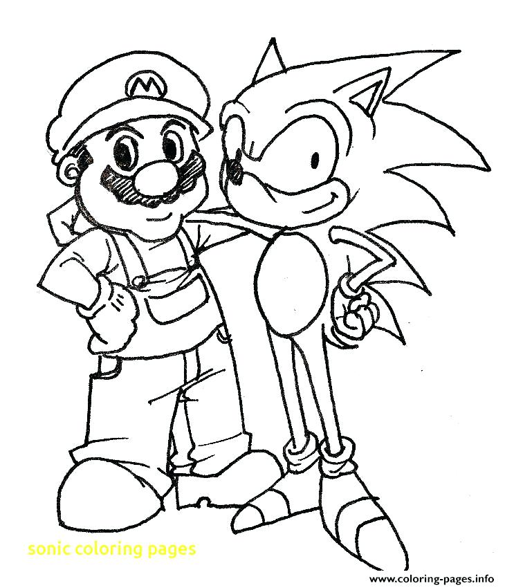 730x850 Sonic The Hedgehog And Friends Coloring Pages Printable