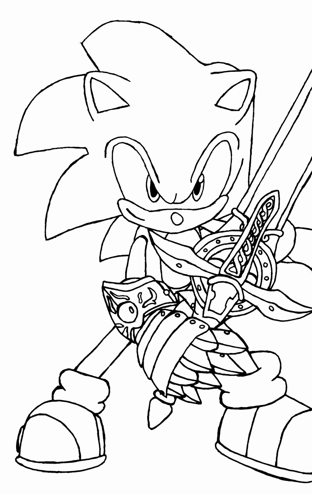 1009x1600 Sonic The Hedgehog Coloring Pages