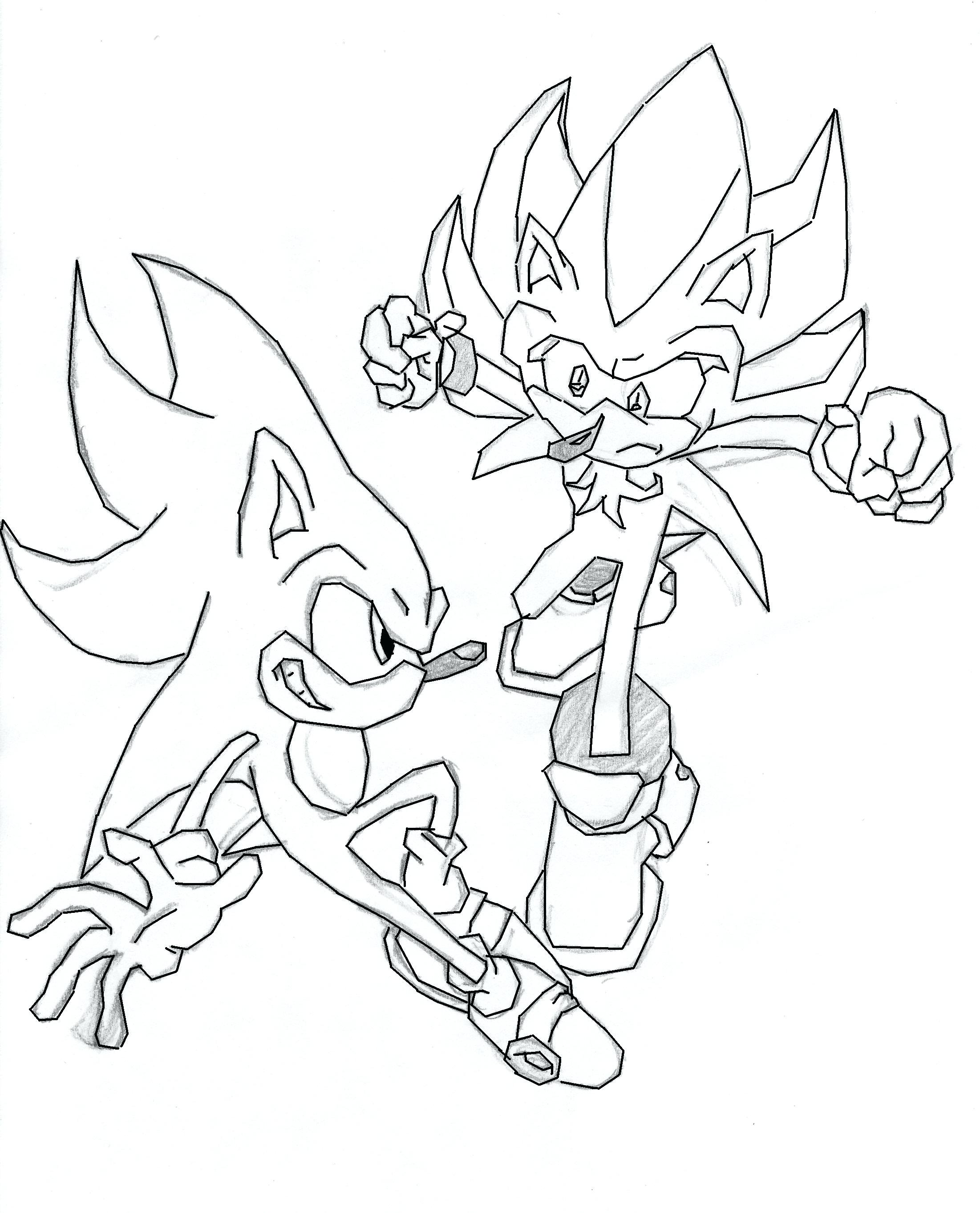 2202x2724 Coloring Page Super Sonic Coloring Pages Pictures Super Sonic