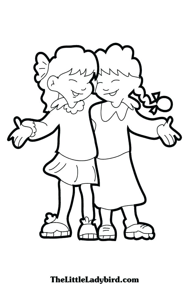 618x926 Coloring Pages Friends Coloring Pages School Friendship Coloring