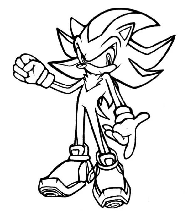 600x697 Shadow The Hedgehog Coloring Pages Glamorous Shadow The Hedgehog