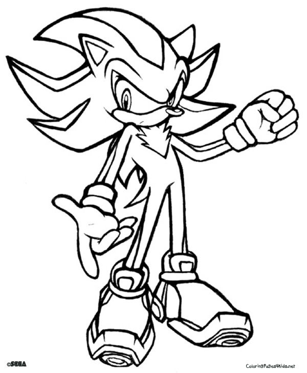 600x729 Shadow Hedgehog Coloring Pages