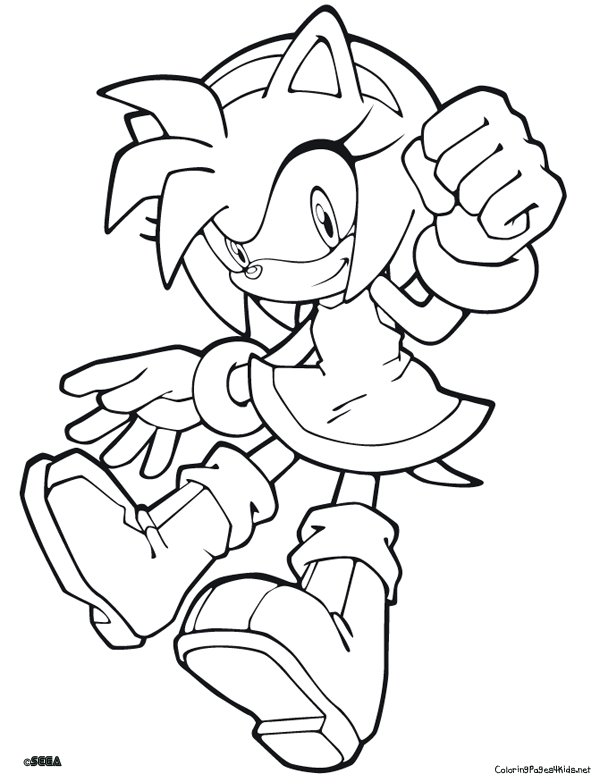 600x782 Sonic The Hedgehog Coloring Pages