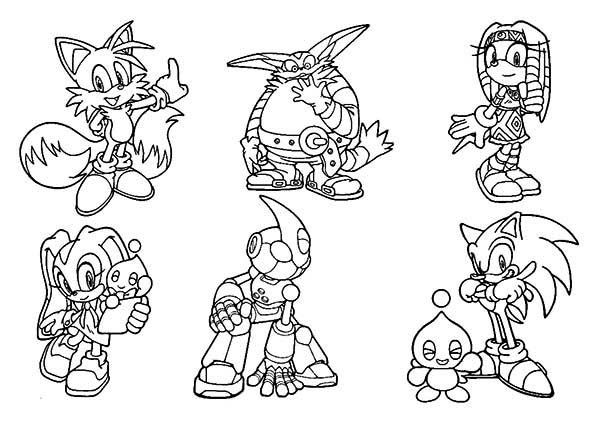 600x424 Coloring Pages Sonic Hedgehog Characters Coloring Pages