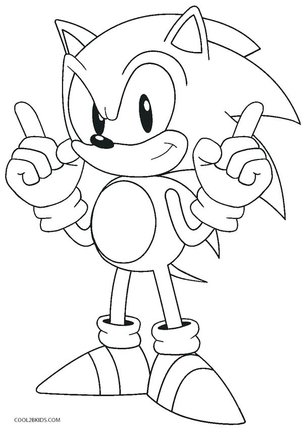 608x850 Sonic Coloring Pages