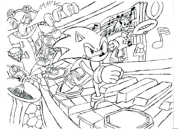 618x449 Free Printable Sonic The Hedgehog Coloring Pages Sonic Coloring
