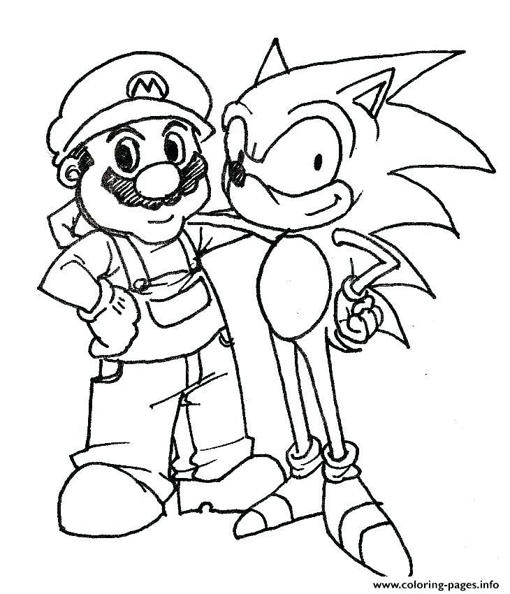 730x850 Mario Coloring Pages Sonic Coloring Pages And His Friend Printable