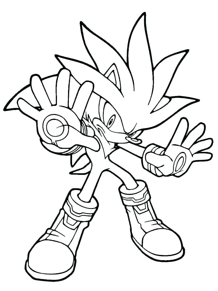 750x1000 Sonic The Hedgehog Coloring Pages Free Printable With Sonic
