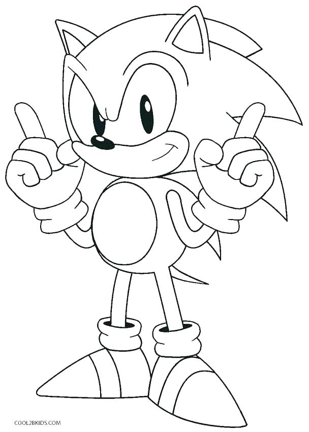 608x850 Free Printable Sonic Coloring Pages