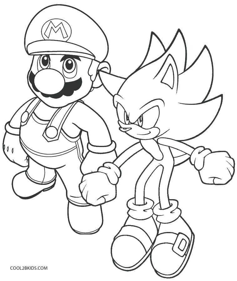 Sonic Coloring Pages Free Printable at GetDrawings.com | Free for ...
