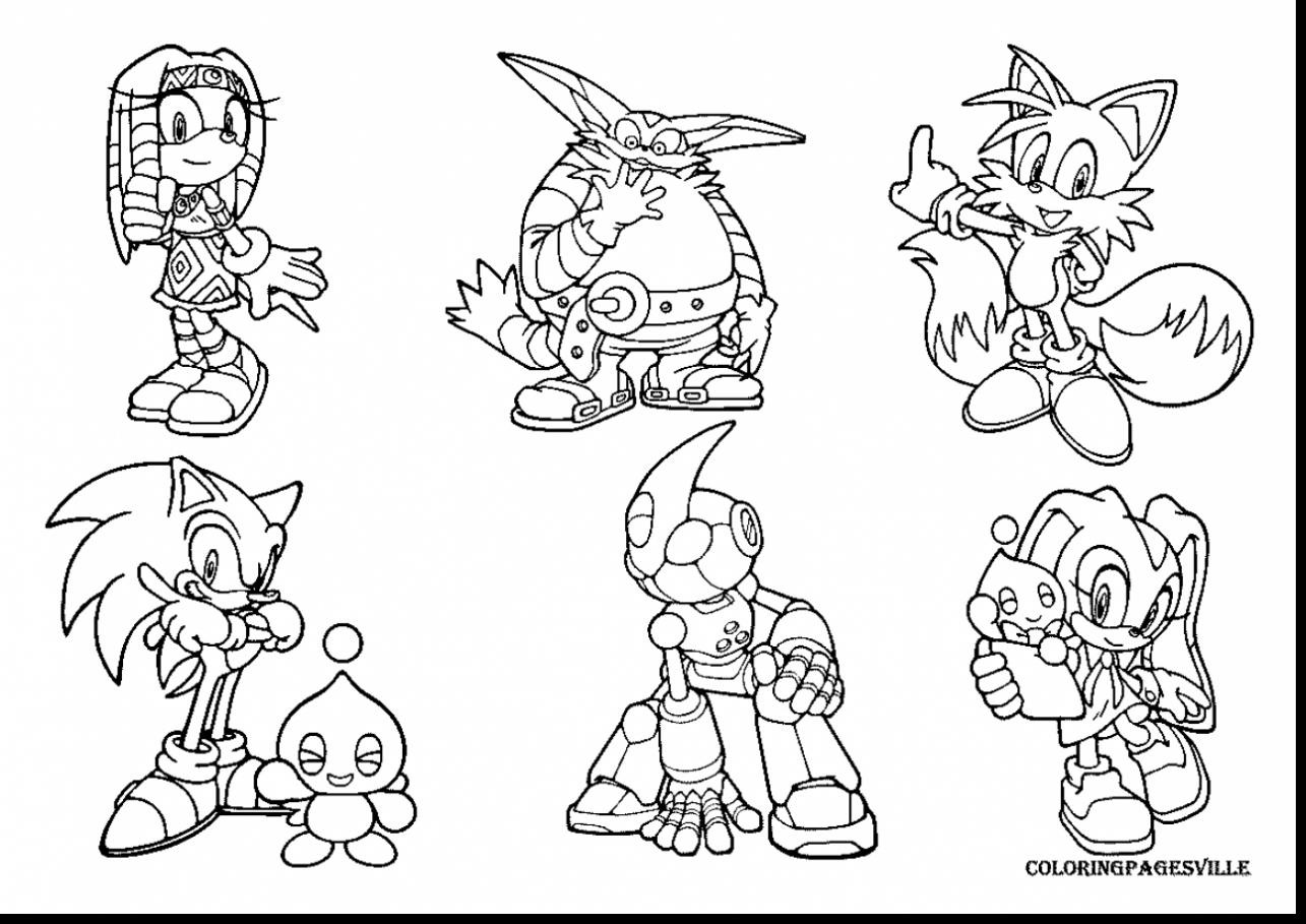 1285x909 Awesome Sonic Coloring Pages With Video Game Showy Games Acpra