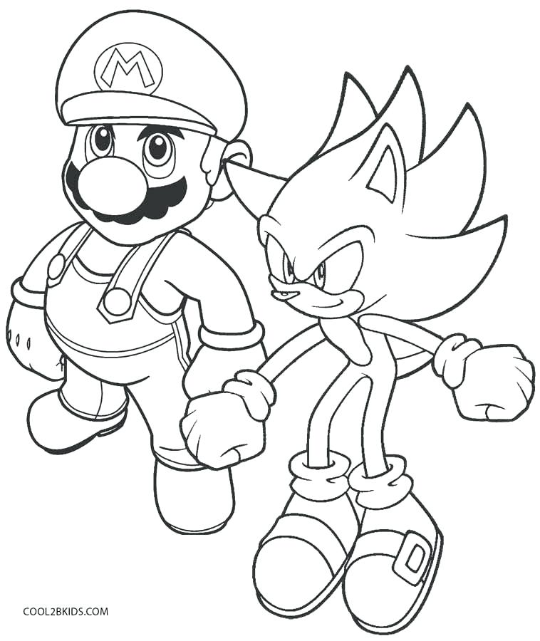 758x900 Sonic Colors Coloring Pages Sonic To Color Super Sonic Coloring