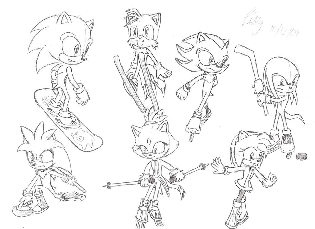 1024x743 Mario And Sonic Coloring Pages And Sonic At The Winter Games
