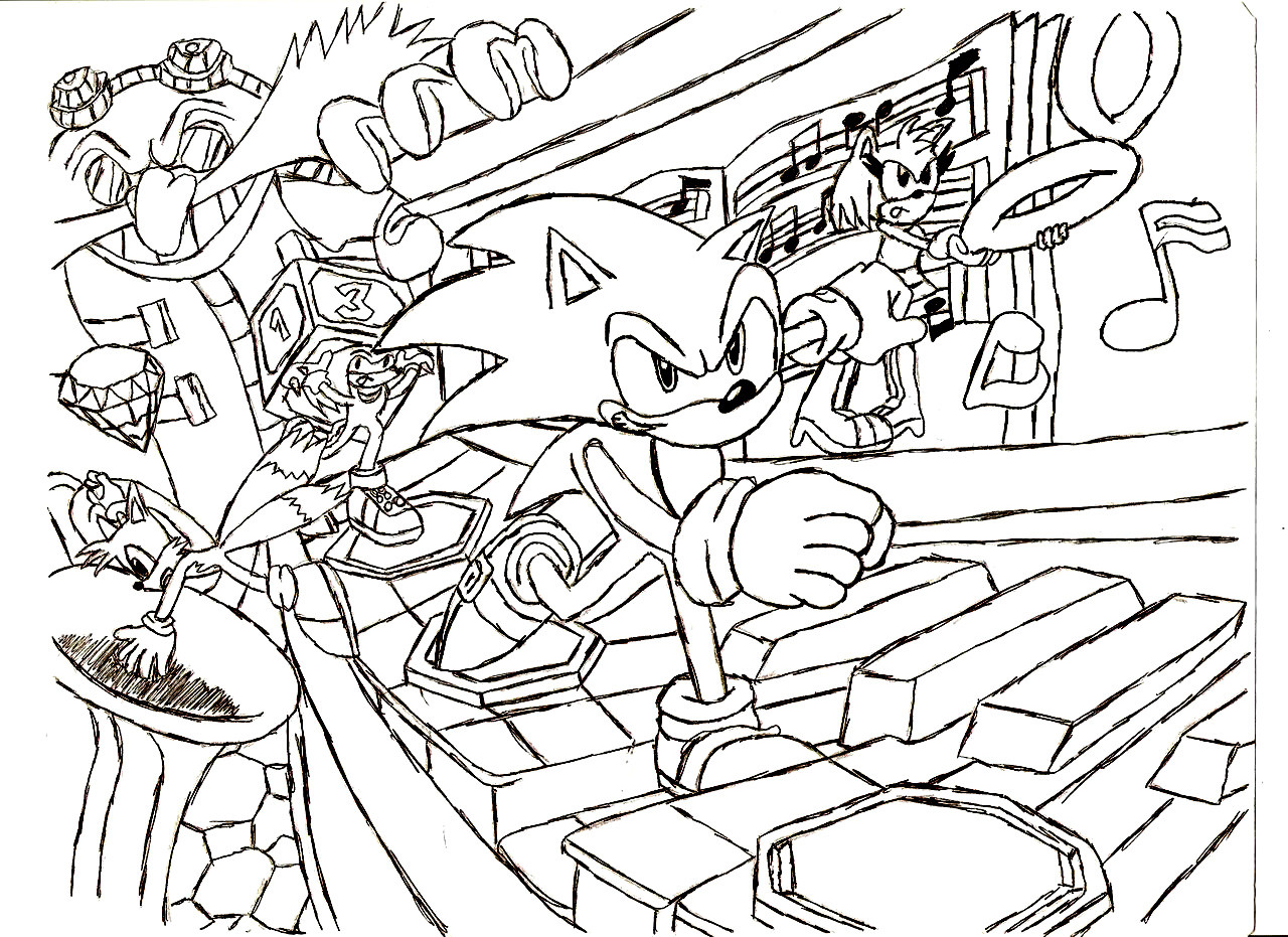 1280x931 Play Games Sonic Coloring Pages Within