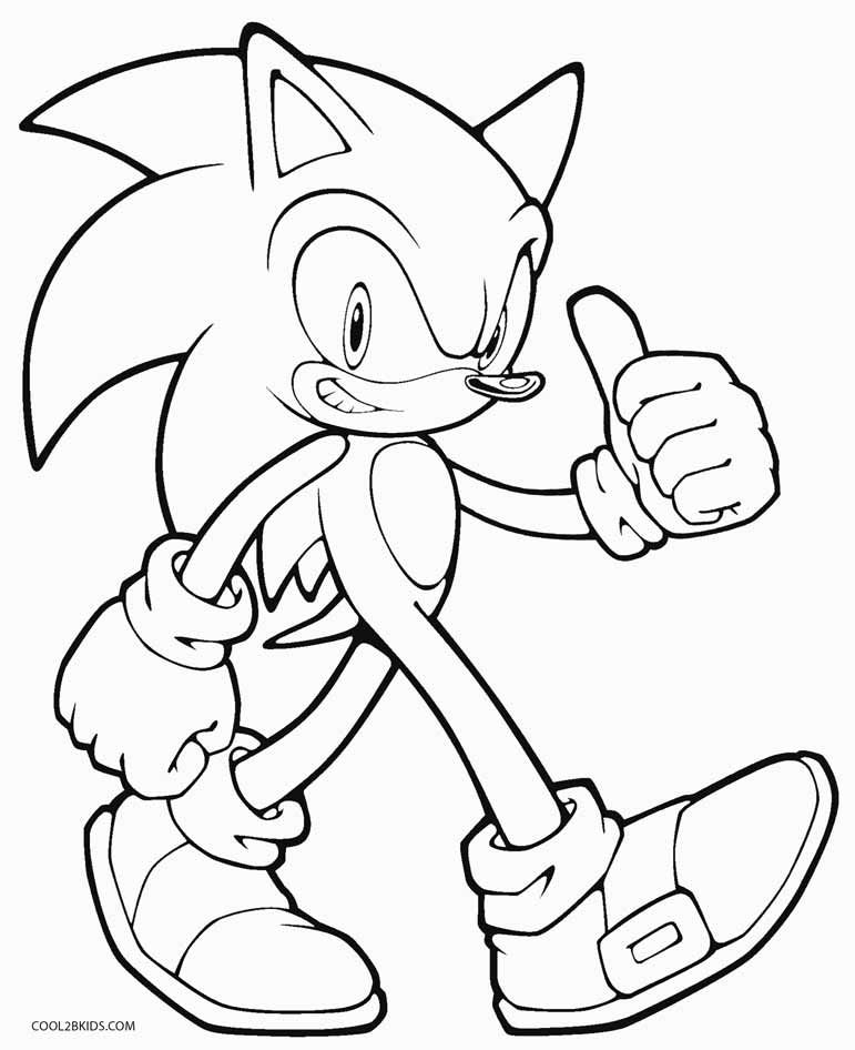 771x946 Printable Sonic Coloring Pages For Kids Video Game