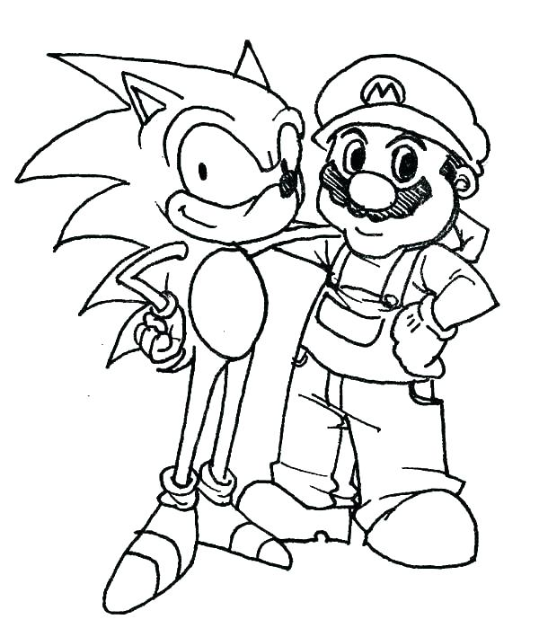600x699 Sonic The Hedgehog Coloring Games Sonic Coloring Pages Coloring