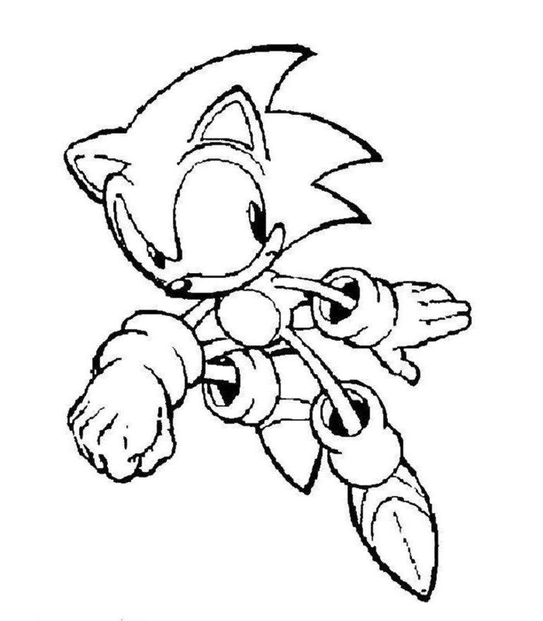 770x880 Super Sonic Coloring Pages