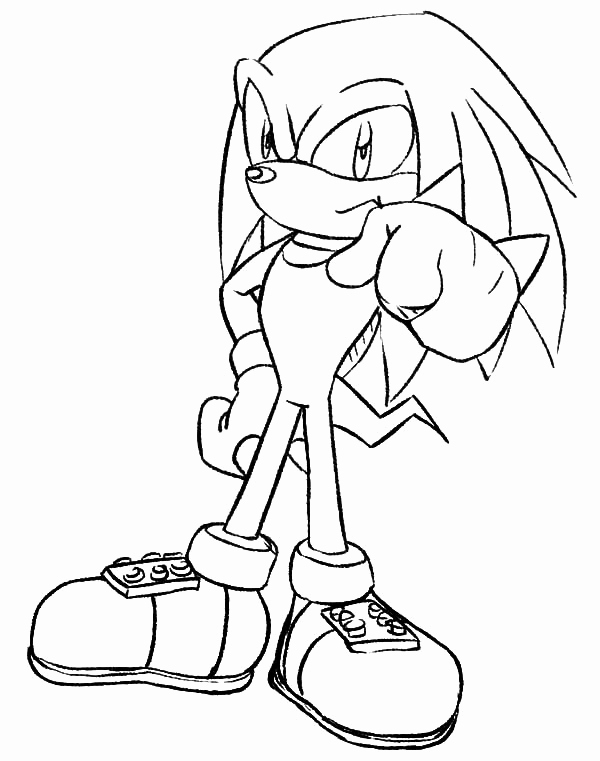 Sonic Knuckles Coloring Pages