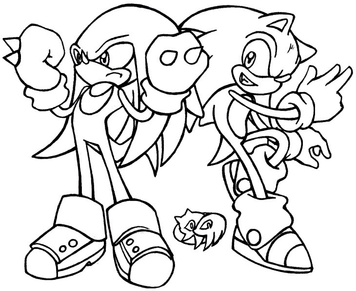730x598 Sonic And Knuckles Anti Tanx On Sonic Knuckles Coloring