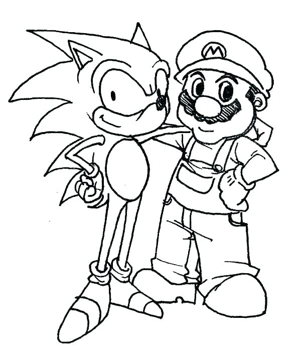 600x699 Sonic Printable Coloring Pages Sonic Printable Coloring Pages