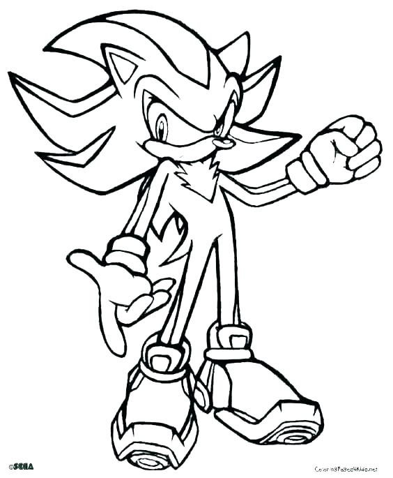 564x685 Free Sonic Coloring Pages