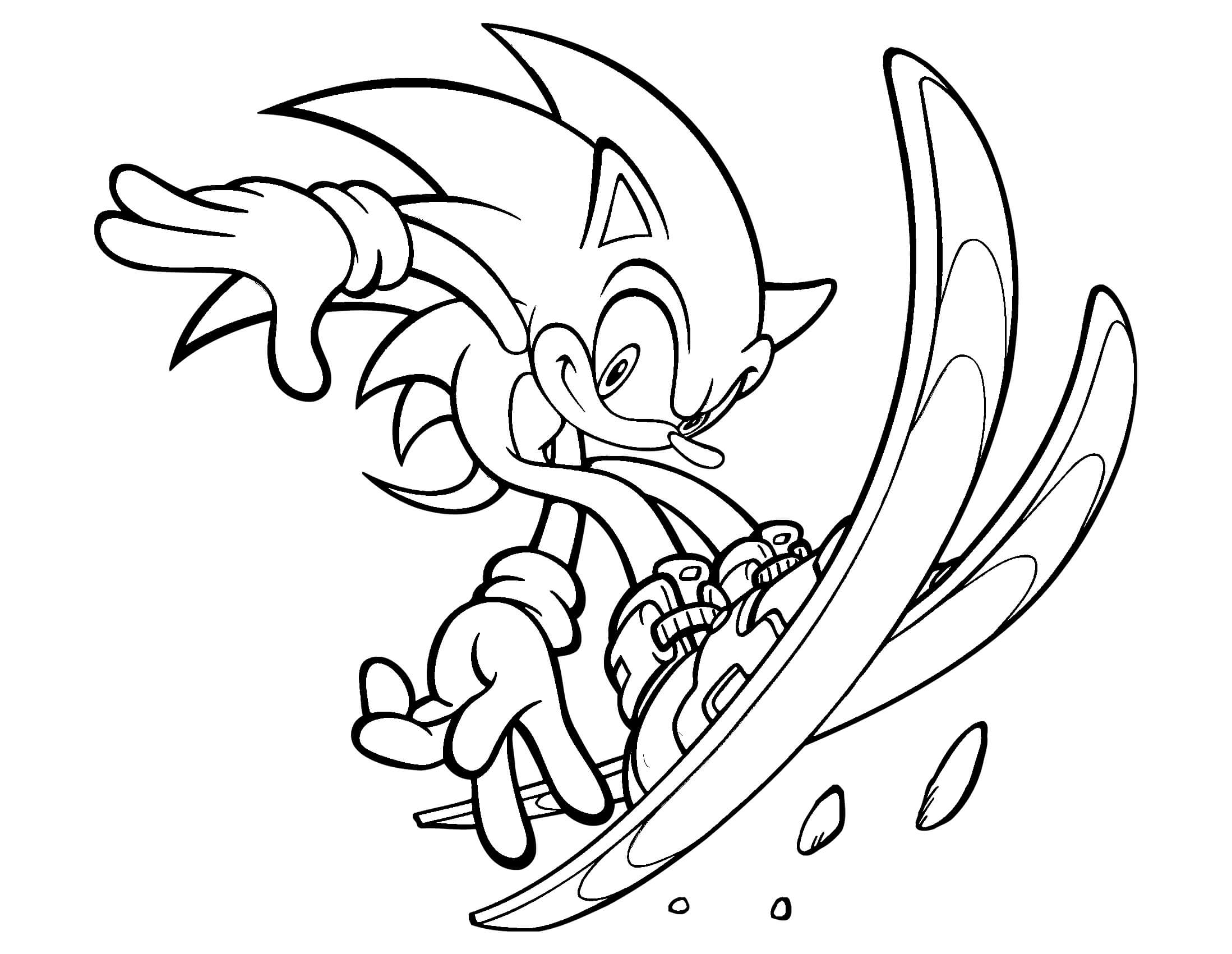 Sonic Running Coloring Pages At GetDrawings.com