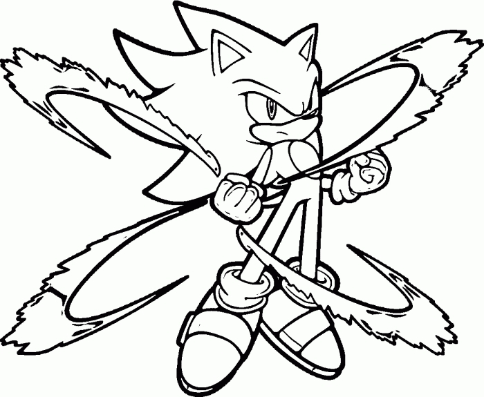 700x575 Sonic The Hedgehog Coloring Pages