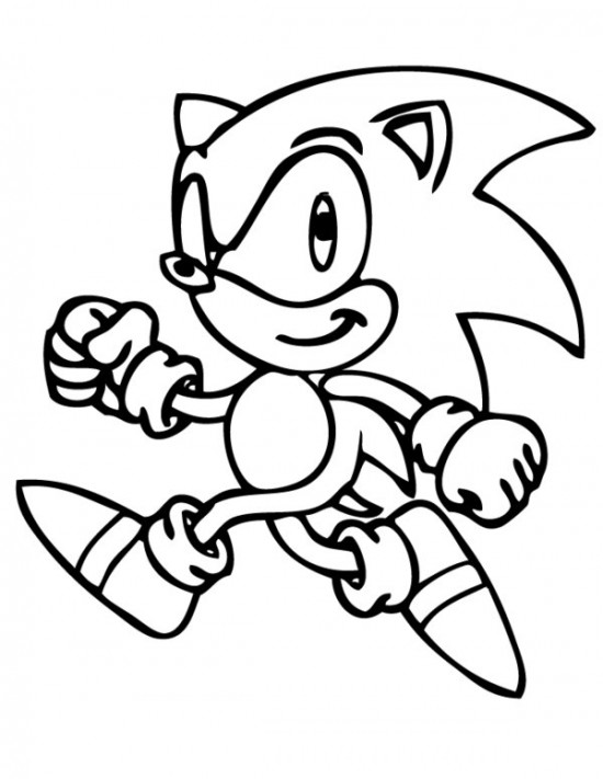 550x711 Sonic The Hedgehog Coloring Pages Pdf
