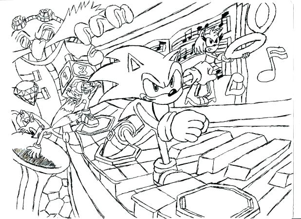 618x449 Sonic The Hedgehog Coloring Sheets Super Sonic Coloring Pages Free
