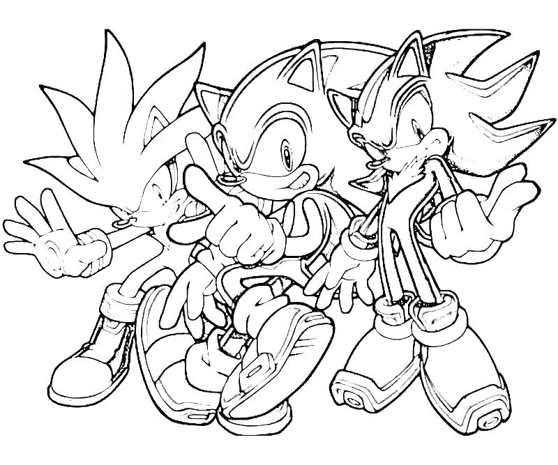 800x667 Free Sonic The Hedgehog Coloring Pages
