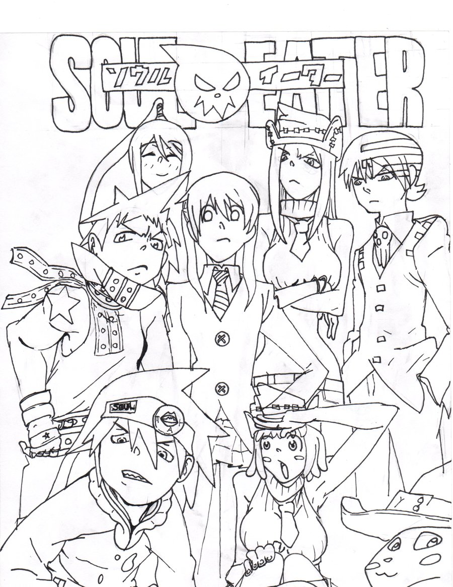 Printable Soul Eater Coloring Pages For Kids - Soul Eater Coloring ...   1165x900