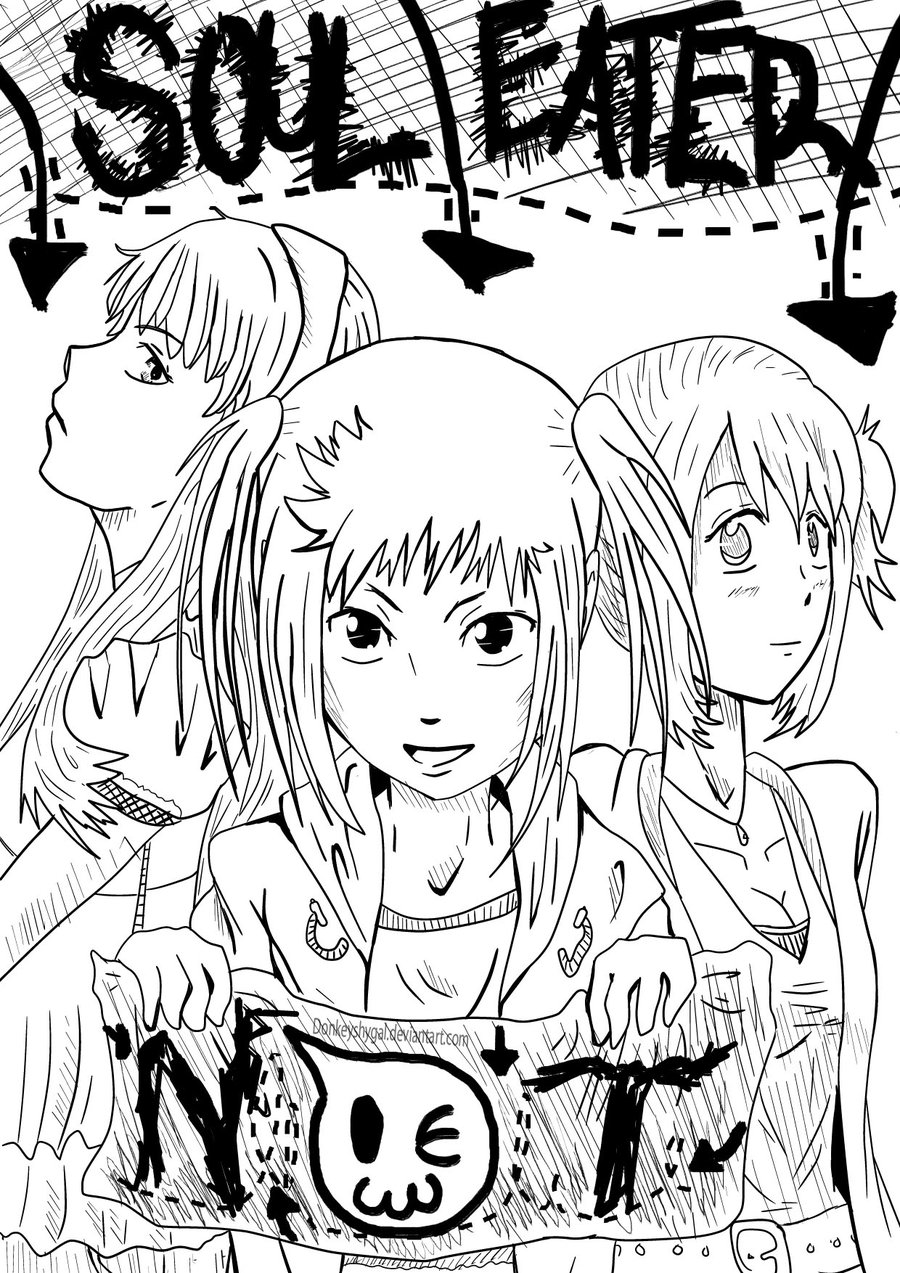 Soul Eater Coloring Pages At Getdrawings Com Free For Personal Use