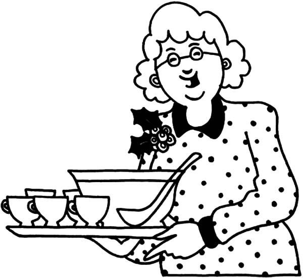 600x551 Grandmother Bring Us Soup Coloring Pages Color Luna