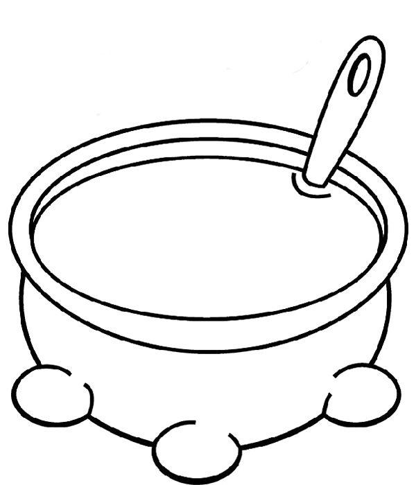 600x700 Soup Pot Coloring Page