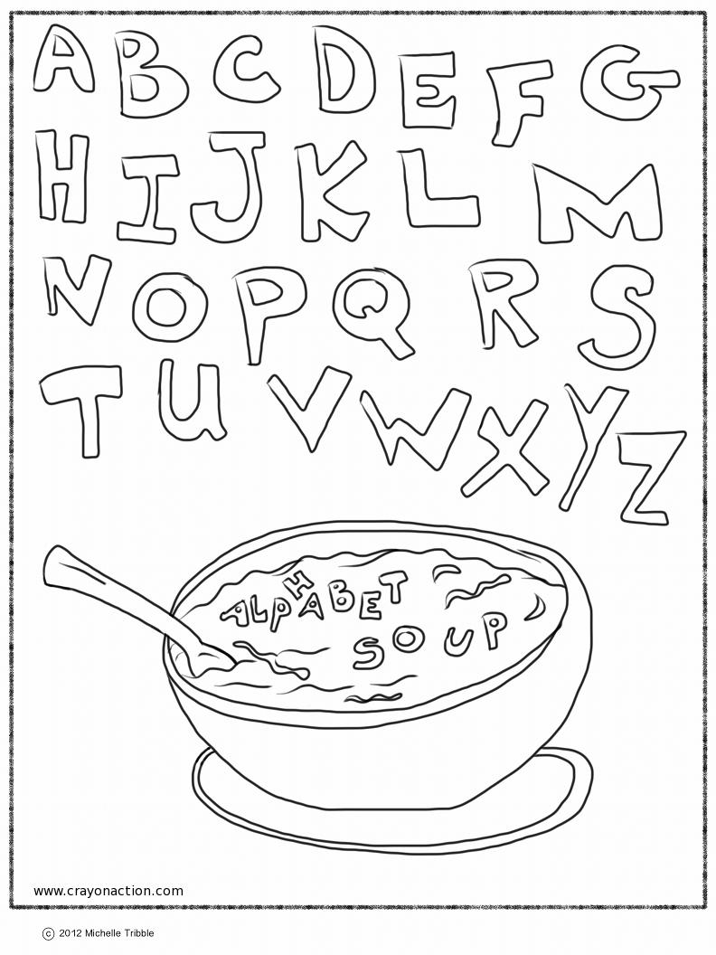 792x1056 Alphabet Soup Coloring Page Printable