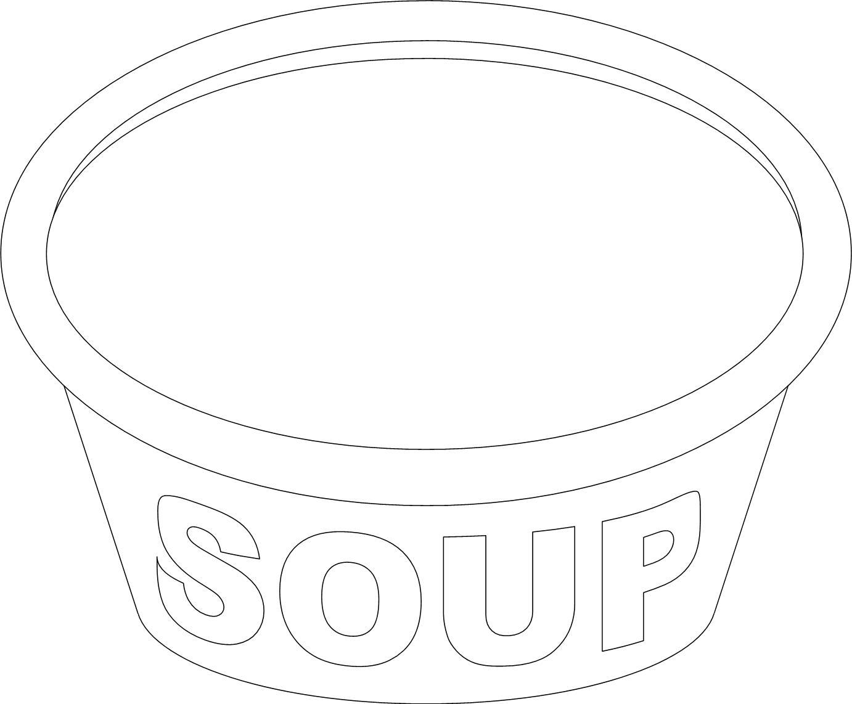 1382x1142 Soup Pot Coloring Page