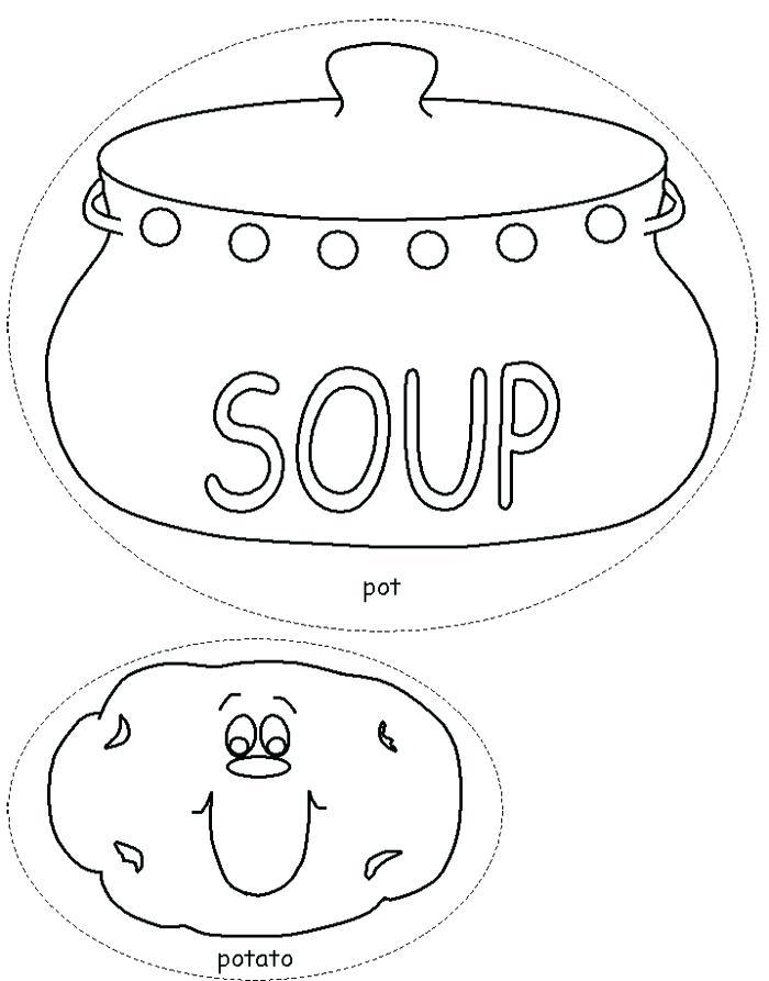 700x893 Stone Soup Coloring Page Soup Coloring Pages Potato Soup Coloring