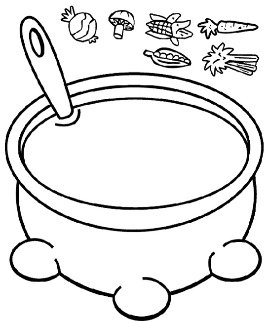 545x650 Growing Vegetable Soup Coloring Page Food Literacy